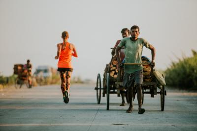 Samantha Gash running