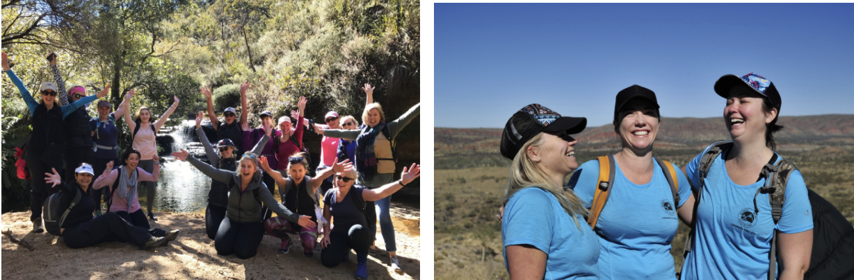 Women Want Adventure Happy Hikers