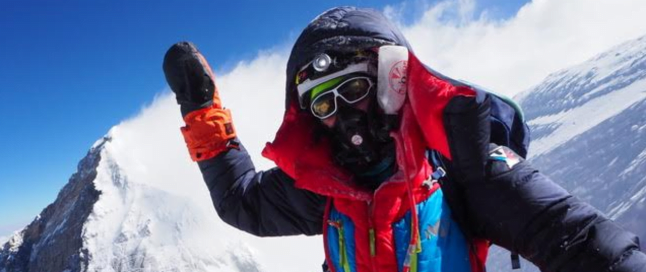 Female climbing Everest